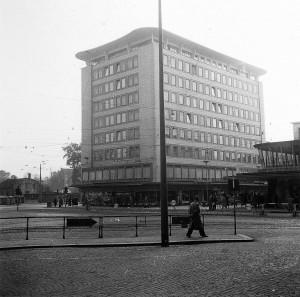 Schloßstraße Ecke Friedrich-Ebertstraße in den 1960er Jahren